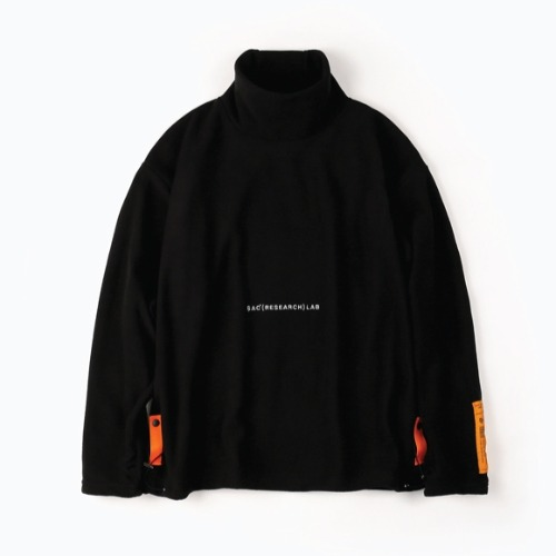 FLEECE TURTLE NECK WARMER LS BLACK