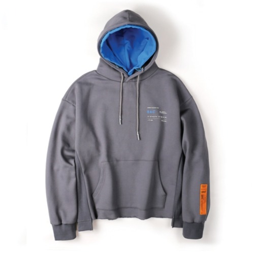 CROP LAYER HOOD PULLOVER GRAY
