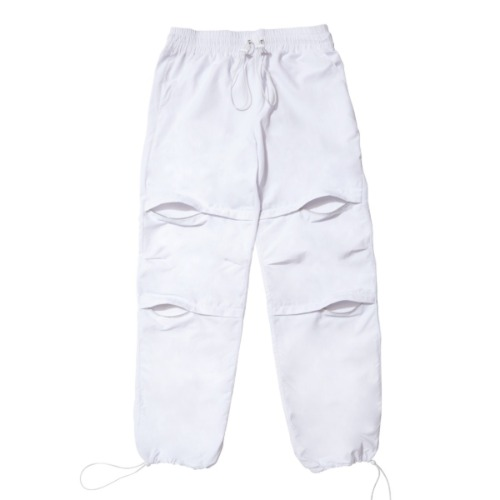 GPD 0010A ZIPPER PANT WHITE (WATER REPELLENT)