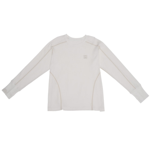 Waffle Jersey Top White