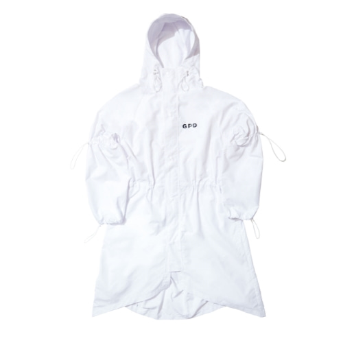 GPD 0010A STRING RAINCOAT WHITE (WATER REPELLENT)