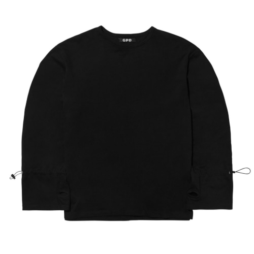 GPD 0010A STRING LONG SLEEVE TEE BLACK