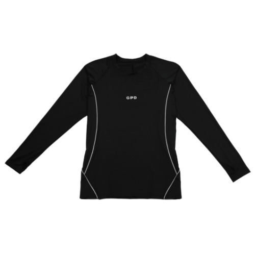GPD 0010B MENS REFLECTIVE JERSEY TOP BLACK