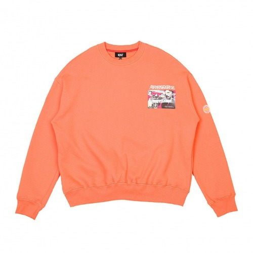 PHOTO LOGO SWEAT TOP NEON ORANGE