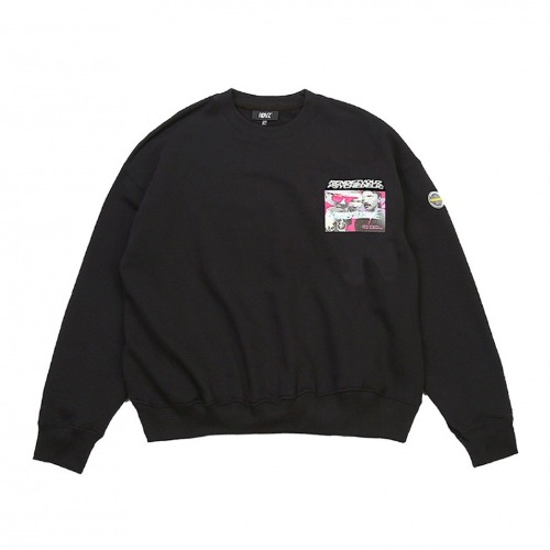 PHOTO LOGO SWEAT TOP BLACK