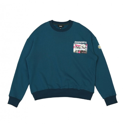 PHOTO LOGO SWEAT TOP GREEN