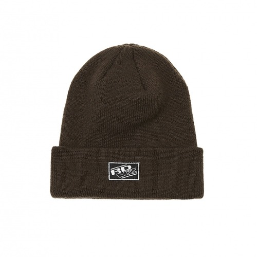 RECTANGLE LABEL BEANIE BROWN