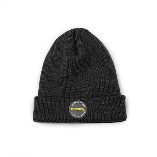 CIRCLE LABEL BEANIE BLACK