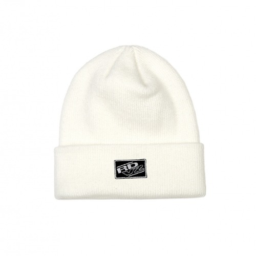 RECTANGLE LABEL BEANIE IVORY