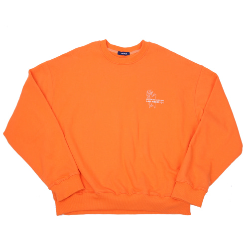 COVERSTICH CREWNECK ORANGE