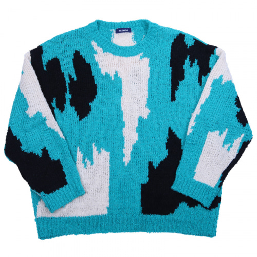 ABSTRACT INTERSIA KNIT MINT