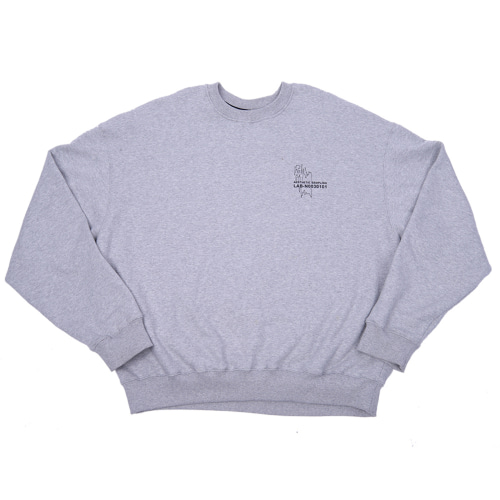 COVERSTICH CREWNECK GREY