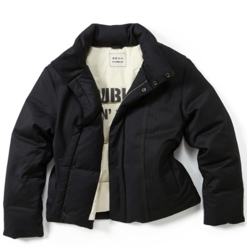 CONTRAST SHORT PUFFER JACKET (VERTICAL)