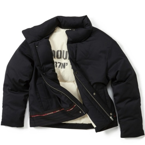 CONTRAST SHORT PUFFER JACKET (HORIZONTAL)