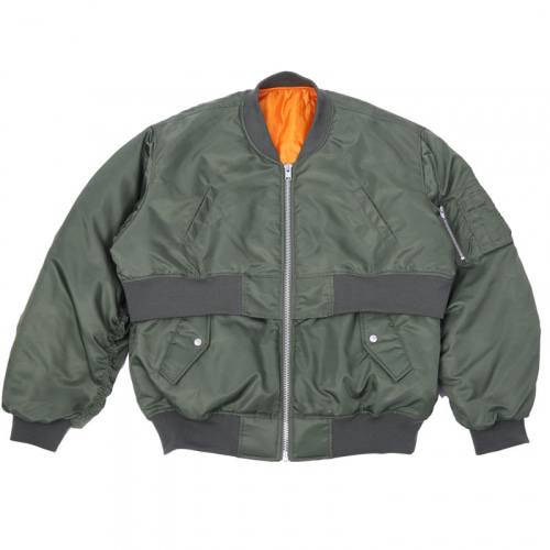 DOUBLE BOMBER JACKET KHAKI