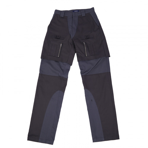 LAYERED WORKPANTS DARK GREY