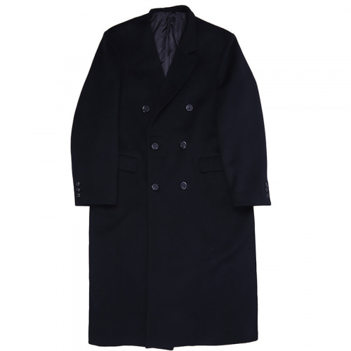 SINGLE COLLAR WOOL COAT BLACK