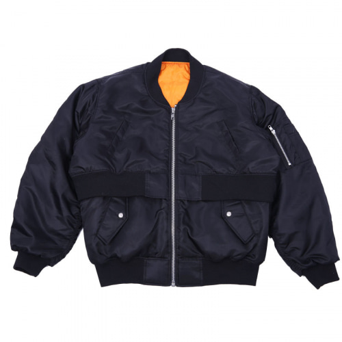 DOUBLE BOMBER JACKET BLACK