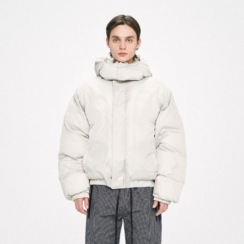 HOOD PADDED JACKET - IVORY