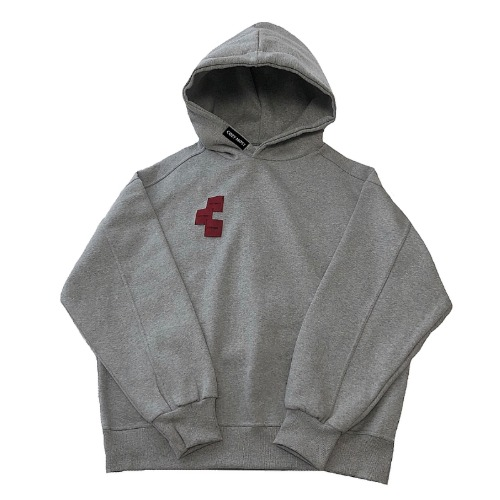 THREE CHIP GREY HOODED
