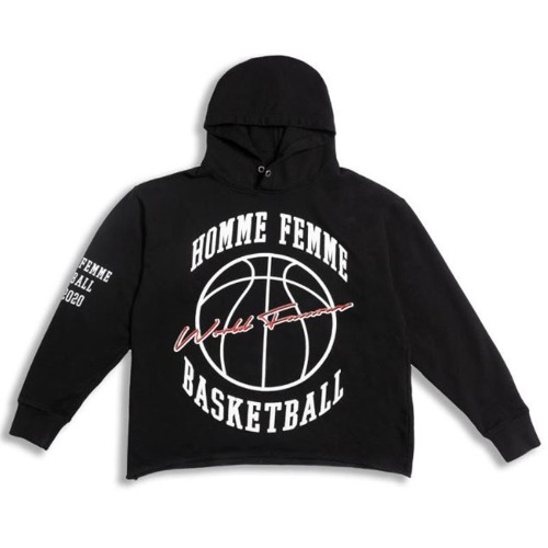 BASKETBALL RAW HOODIE BLACK