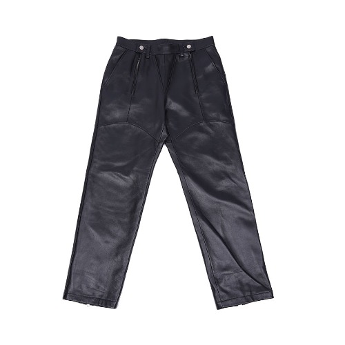 LABMSKIN LEATHER PANTS BLACK