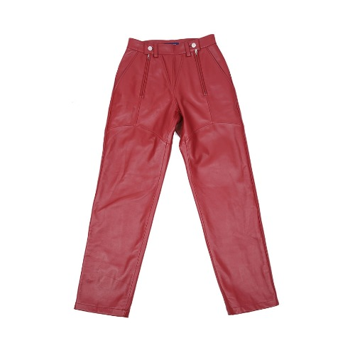 LABMSKIN LEATHER PANTS RED