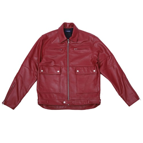 LABMSKIN LEATHER JACKET RED