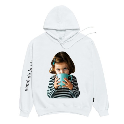 ADLV BABY FACE HOODIE WHITE WITH A MUG