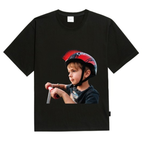 ADLV BABY FACE SHORT SLEEVE BLACK MOHICAN HELMET