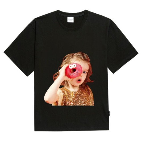ADLV BABY FACE SHORT SLEEVE BLACK DONUTS 4