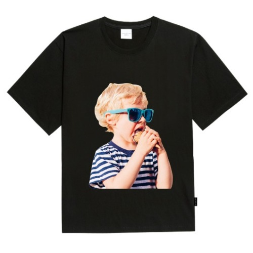 ADLV BABY FACE SHORT SLEEVE BLACK SUNGLASSES