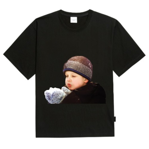 ADLV BABY FACE SHORT SLEEVE BLACK WINTER BOY