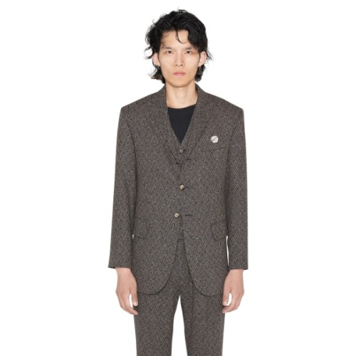 BROWN WOOL SUIT JACKET