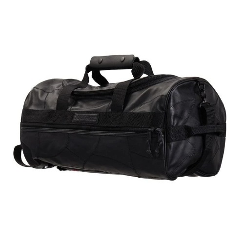 19FW PATCH WORK LEATHER DUFFLE BAG BLACK
