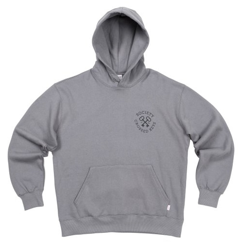 CROSS KEY HOODIE CHARCOAL