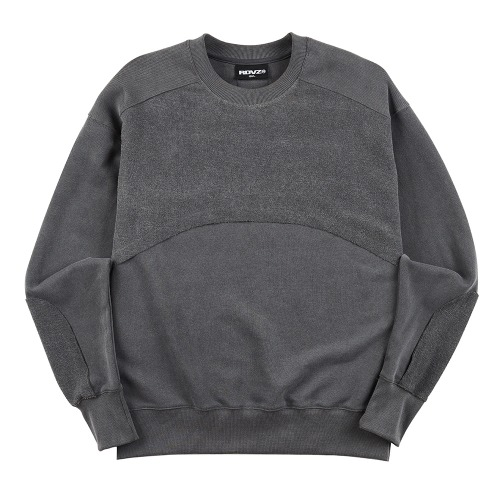 PIGMENT BLOCK SWEAT TOP CHARCOAL