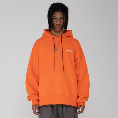 SIGNATURE LOGO OVERFIT HOODIE ORANGE