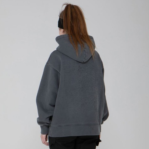 DIVISION WASHING HEAVYWEIGHT HOOD GREY