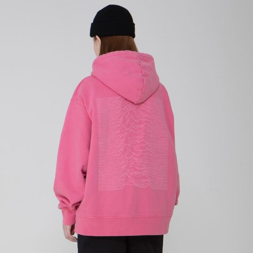 DIVISION WASHING HEAVYWEIGHT HOOD PINK