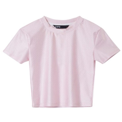 LOGO CROPPED T-SHIRT PINK