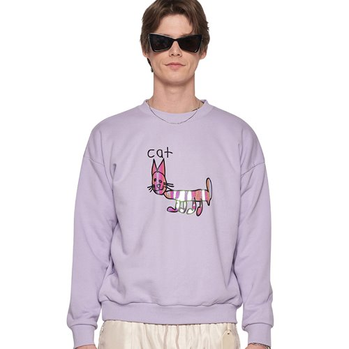 PURPLE REFLECTIVE CAT JUMPER