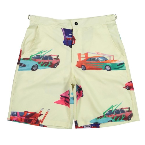 SPEED TRIBE RAYON SHORTS BEIGE