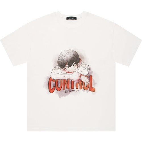 uncontrollable boy short sleeved T-shirt - off white