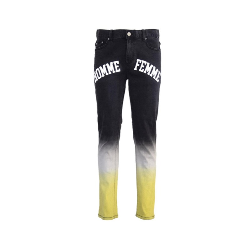 OMBRE LOGO DENIM BLACK YELLOW