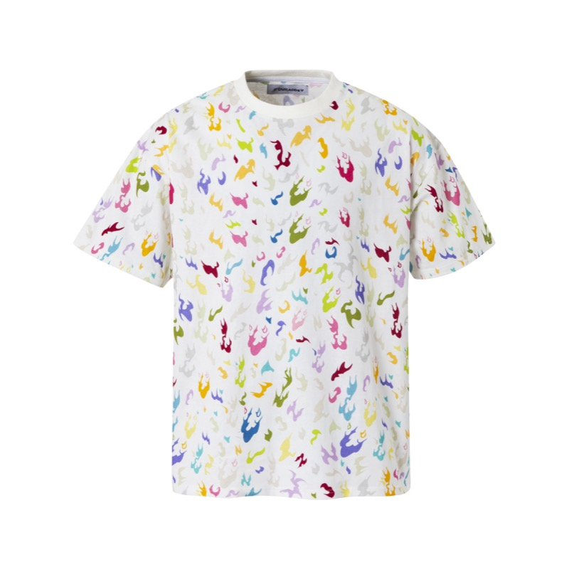 CAMO T-SHIRTS MULTI WHITE