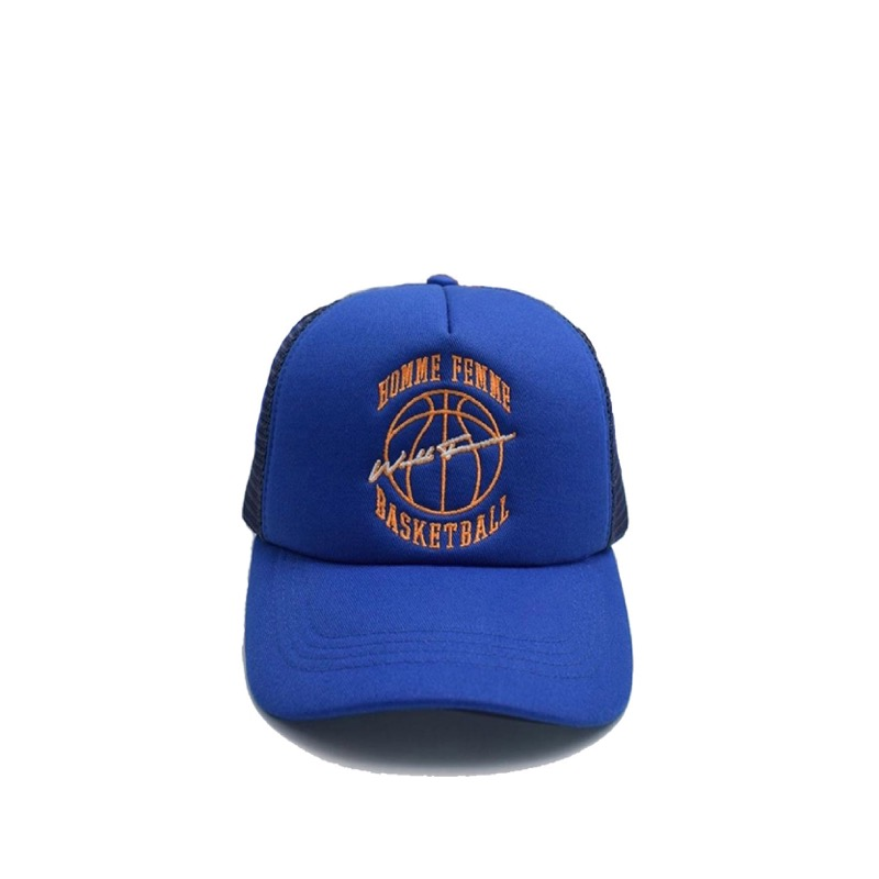 VINTAGE BASKETBALL TRUCKER HAT ROYAL