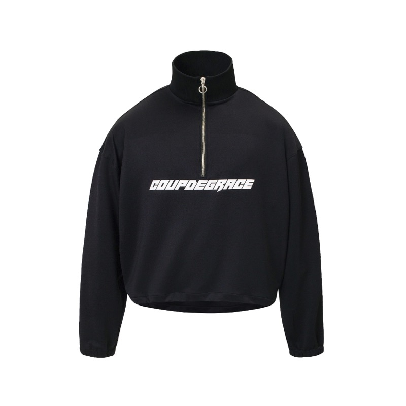 REFLECT LOGO NECK ZIP LS BLACK (MAN)