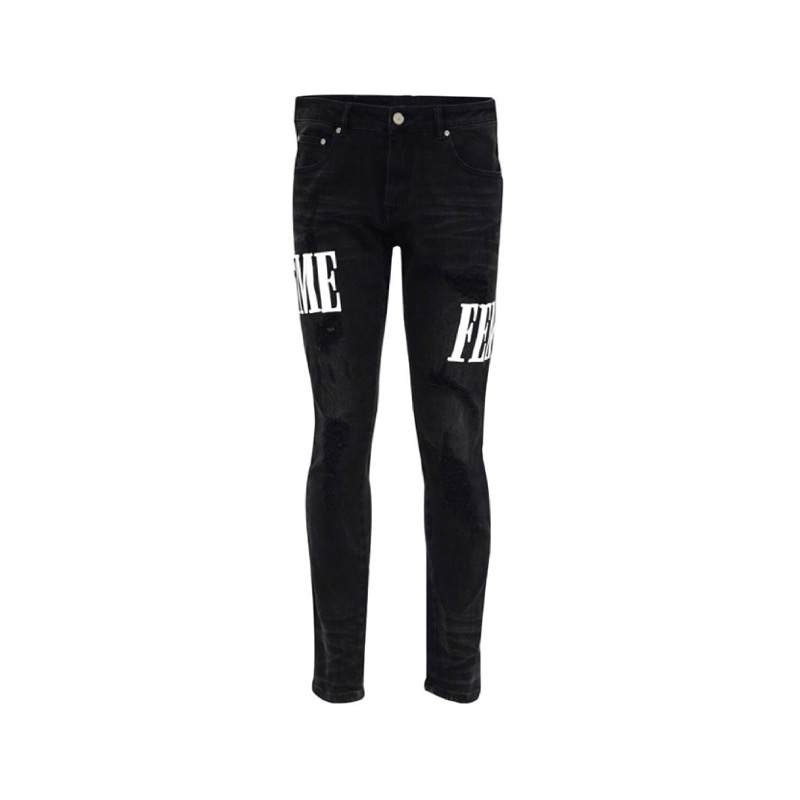 LETTERMAN DENIM BLACK WHITE