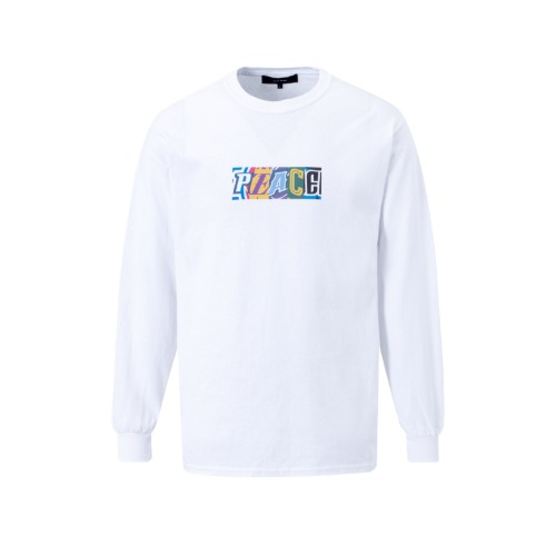 "[SEASON OFF SALE] ""PEACE"" PRINT LONG SLEEVE T-SHIRTS WHITE"